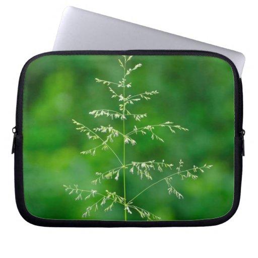 Ogräs i ljus färg laptop datorfodral
