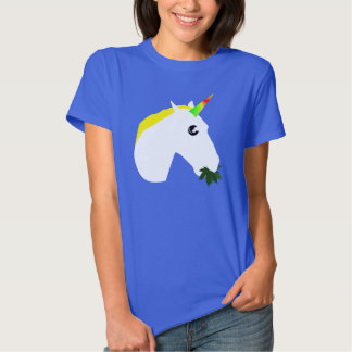 Ogräs som äter unicornT-tröja med animeögon T Shirts