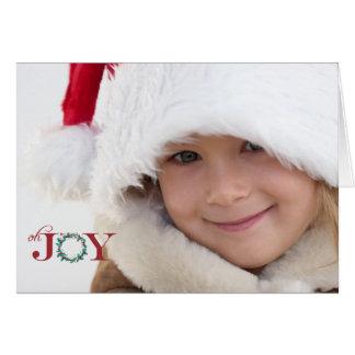 Oh glädje vikt fotohelgdagkort hälsningskort