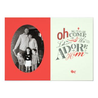 Oh l5At komen oss älska honom helgdagkortet 12,7 X 17,8 Cm Inbjudningskort