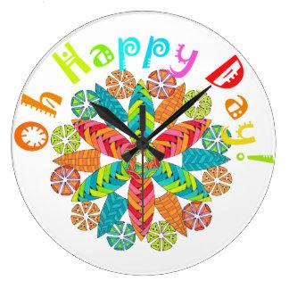 Oh lycklig dag! stor klocka