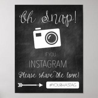 Oh plötslig dekor för svart tavla för Instagram