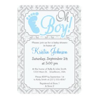 Oh pojke!  Baby showerinbjudan 12,7 X 17,8 Cm Inbjudningskort