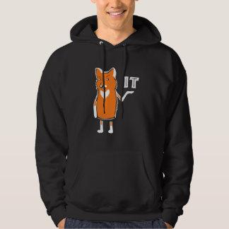 Oh räv det roligt sarkastiskt humoristiskt kallt hoodie