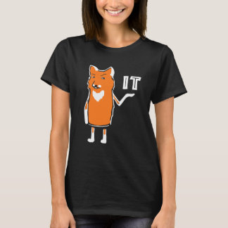 Oh räv det roligt sarkastiskt humoristiskt kallt t shirt