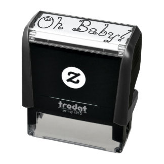 Oh rubber frimärke för bebis självfärgande stämpel