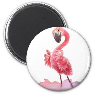 Oh Yeah Flamingo! Magnet Rund 5.7 Cm
