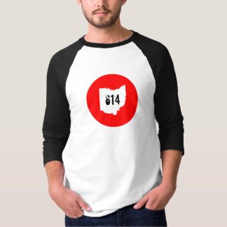 Ohio 614 3/4 sleeve t shirt