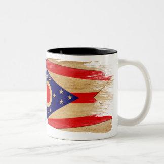 Ohio flaggamugg Två-Tonad mugg