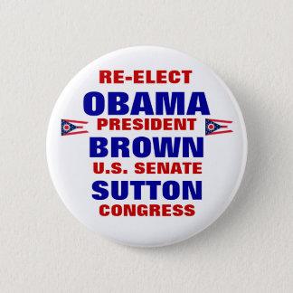 Ohio för Obama bruna Sutton Standard Knapp Rund 5.7 Cm
