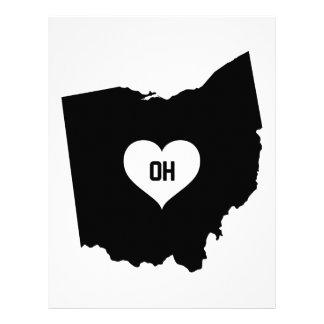 Ohio kärlek brevhuvud