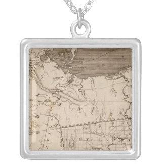 Ohio karta vid Arrowsmith Silverpläterat Halsband