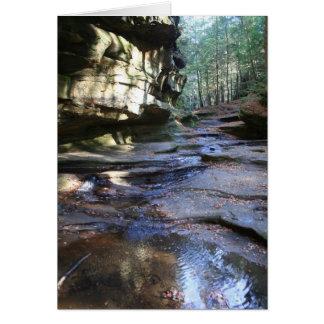 Ohio landskapkort hälsningskort