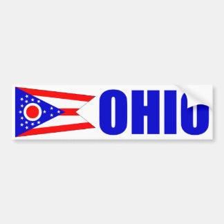 Ohio med statlig flagga bildekal