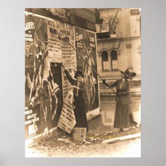 Ohio Suffragettes som postar räkningar i Cincinnat Poster