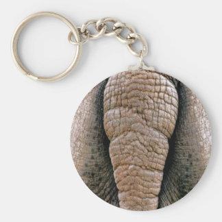 Ohyfsad rolig nyckelring för noshörninggrundanpass
