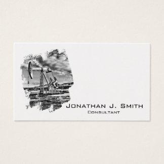 OilfieldPumpjack svart, vit, stänk Visitkort