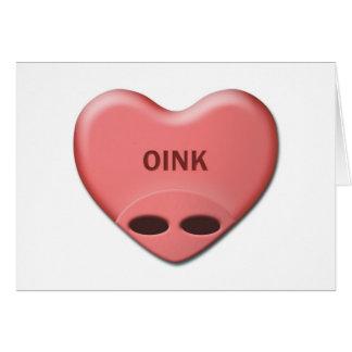 """""""OINK"""" valentinkort OBS Kort"""