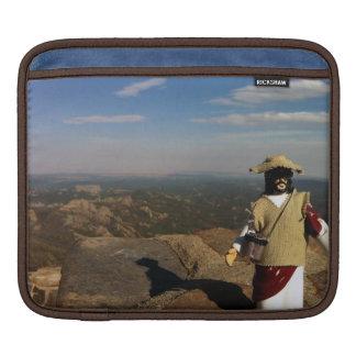Ojämn bergsbestigninghandlingfigur Jesus Sleeve För iPads