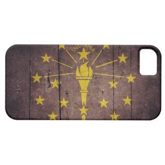 Ojämn Wood Indiana flagga iPhone 5 Fodraler