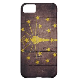 Ojämn Wood Indiana flagga iPhone 5C Fodral