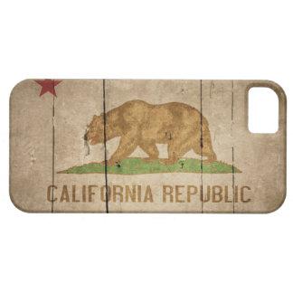 Ojämn Wood Kalifornien flagga iPhone 5 Case-Mate Cases