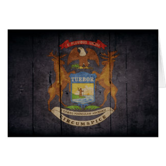 Ojämn Wood Michigan flagga OBS Kort