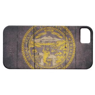 Ojämn Wood Nebraska flagga iPhone 5 Case-Mate Fodral