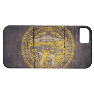 Ojämn Wood Nebraska flagga iPhone 5 Case-Mate Skal