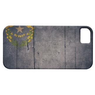 Ojämn Wood Nevada flagga iPhone 5 Case-Mate Skal