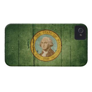Ojämn Wood Washington flagga Case-Mate iPhone 4 Skydd