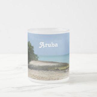 Ojämna Aruba Frostad Glas Mugg