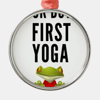 Ok men första Yoga Julgransprydnad Metall