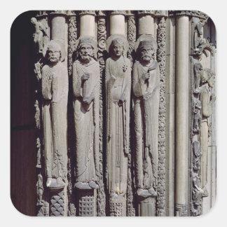 Okänd figur, kung Solomon Fyrkantigt Klistermärke