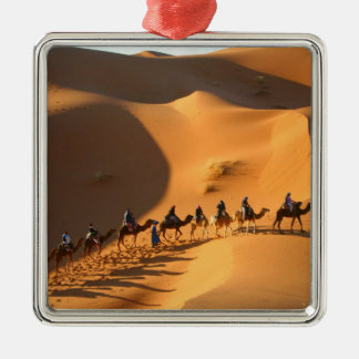 öken-Marocko-Sahara Silverfärgad Fyrkantigt Julgransprydnad