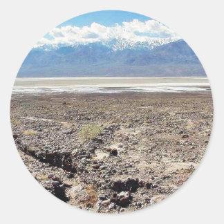 Öken salt Death Valley Runt Klistermärke