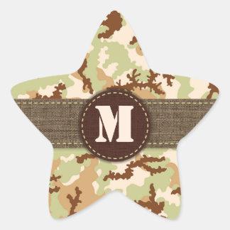 Ökenkamouflage Stjärnformat Klistermärke