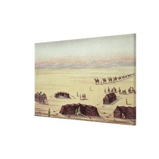 Ökenlägret av herr Richard Burton Canvastryck