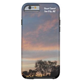 Ökensolnedgången ringer jag fodral 1 tough iPhone 6 case