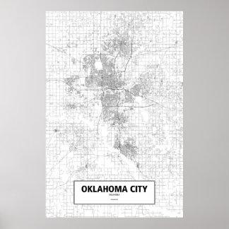 Oklahoma city Oklahoma (svarten på vit) Poster