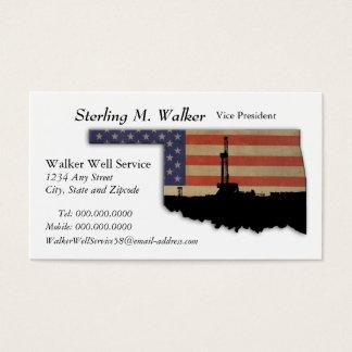 Oklahoma patriotisk olje- borranderigg visitkort