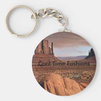 Öknen landskap, kalla Time modeer Rund Nyckelring
