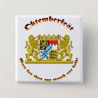 Oktemberfest med bayersk mer underbar ärmar standard kanpp fyrkantig 5.1 cm