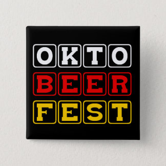 Oktobeerfest: Tysk ölfestival för oktoberfest Standard Kanpp Fyrkantig 5.1 Cm