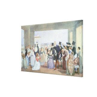 Oktober firande i Rome, 1842 Canvastryck