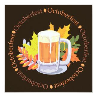 Oktoberfest i rundainbjudan fyrkantigt 13,3 cm inbjudningskort