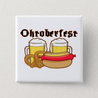 OktoberfestBratwurst & öl Standard Kanpp Fyrkantig 5.1 Cm