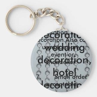 oktogon prydd med pärlor gardin för dekoration rund nyckelring