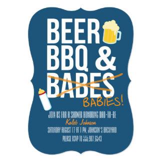 Öl, BBQ- & Babesbabypappa baby showerinbjudan 12,7 X 17,8 Cm Inbjudningskort