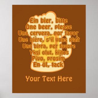 ÖL i beställnings- affisch för språk